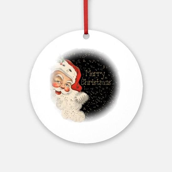 Santa in the stars Round Ornament