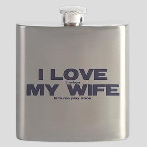 Love my wife Xbox Flask