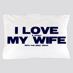 Love my wife Xbox Pillow Case