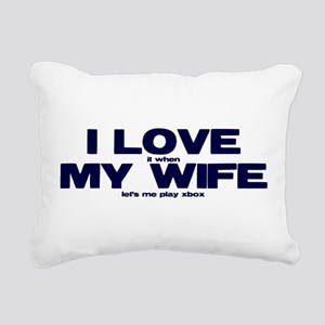 Love my wife Xbox Rectangular Canvas Pillow