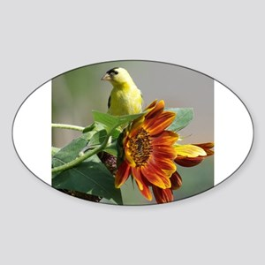 Goldfinch in a Sunflower Sticker