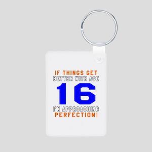 16 I'm Approaching Perfect Aluminum Photo Keychain