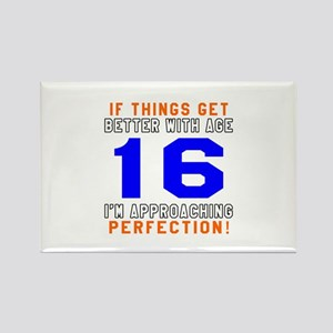 16 I'm Approaching Perfection Bir Rectangle Magnet