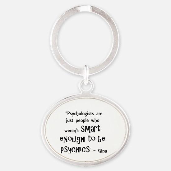 Cute Gina Oval Keychain