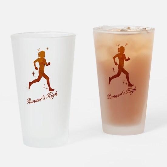 Womens Runner's High Drinking Glass