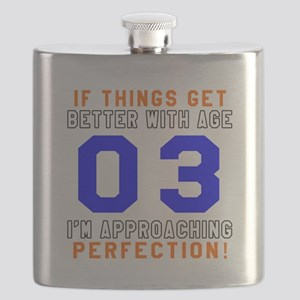 03 I'm Approaching Perfection Birthday Desig Flask