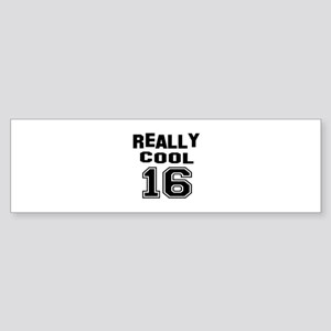 Really Cool 16 Birthday Designs Sticker (Bumper)