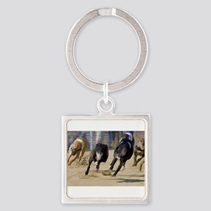 Battle of the Racing Greyhounds at the T Keychains