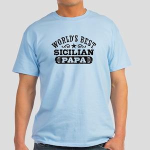 World's Best Sicilian Papa Light T-Shirt