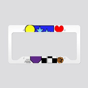Deco Vibrance License Plate Holder