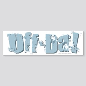 Uff Da Design Bumper Sticker