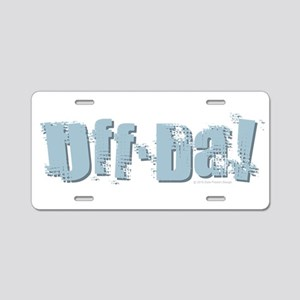 Uff Da Design Aluminum License Plate