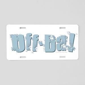 Uff Da Design Aluminum License Plate