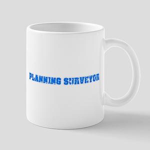 Planning Surveyor Blue Bold Design Mugs