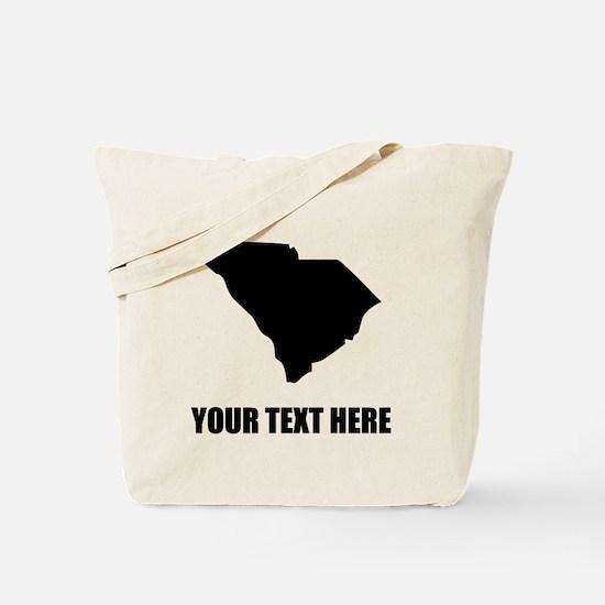 Custom South Carolina Silhouette Tote Bag