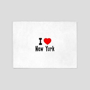 I Love New York 5'x7'Area Rug