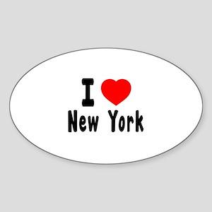 I Love New York Sticker (Oval)