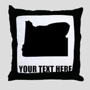 Custom Oregon Silhouette Throw Pillow