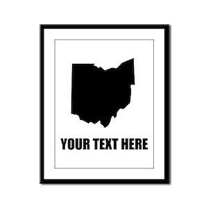 Custom Ohio Silhouette Framed Panel Print