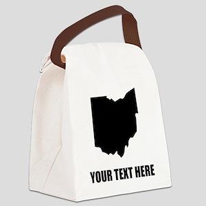 Custom Ohio Silhouette Canvas Lunch Bag