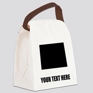 Custom North Dakota Silhouette Canvas Lunch Bag