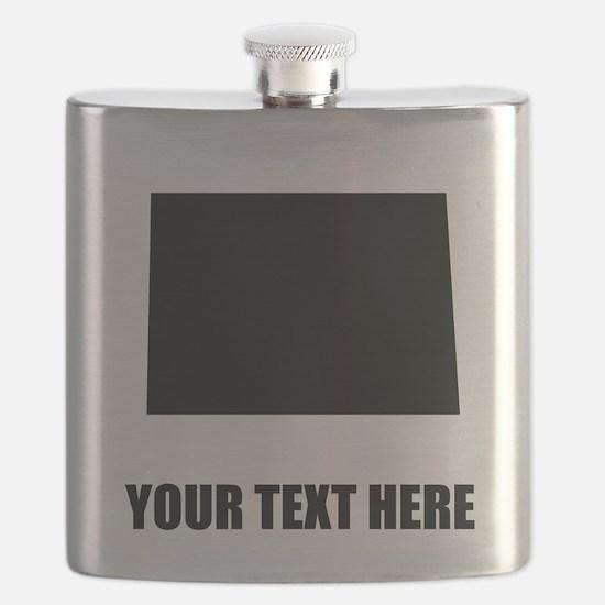 Custom North Dakota Silhouette Flask