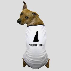 Custom New Hampshire Silhouette Dog T-Shirt