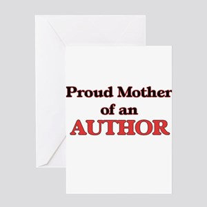 Proud Mother of a Author Greeting Cards