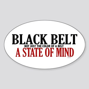 Not Just The Color Of A Belt Oval Sticker