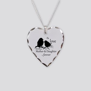 Mother Daughter Love Forever Necklace Heart Charm