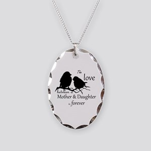 Mother Daughter Love Forever Necklace Oval Charm