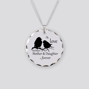 Mother Daughter Love Forever Necklace Circle Charm