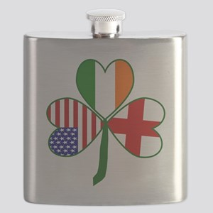 Shamrock of England Flask