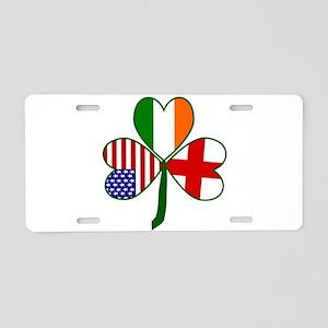 Shamrock of England Aluminum License Plate