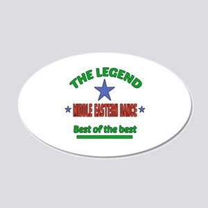 The Legend Middle Eastern da 20x12 Oval Wall Decal