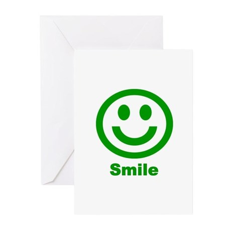 Green Smile Greeting Cards (Pk of 10)