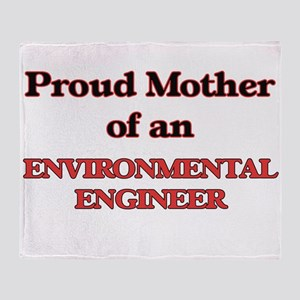 Proud Mother of a Environmental Engi Throw Blanket