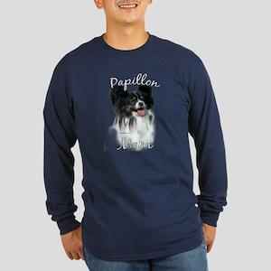 Papillon Mom2 Long Sleeve Dark T-Shirt