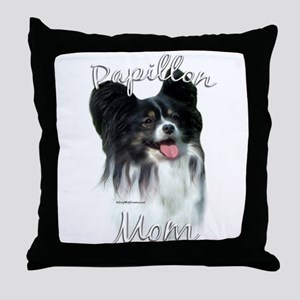Papillon Mom2 Throw Pillow