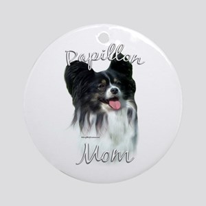 Papillon Mom2 Ornament (Round)