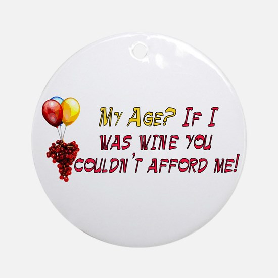 Fine Wine Ornament (Round)