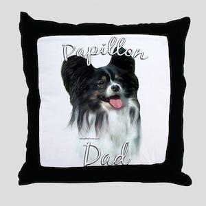Papillon Dad2 Throw Pillow