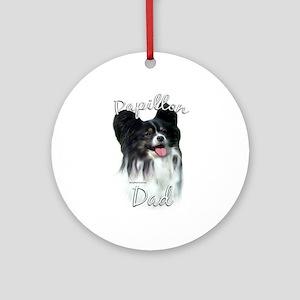 Papillon Dad2 Ornament (Round)