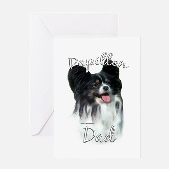 Papillon Dad2 Greeting Card