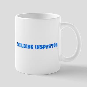 Welding Inspector Blue Bold Design Mugs