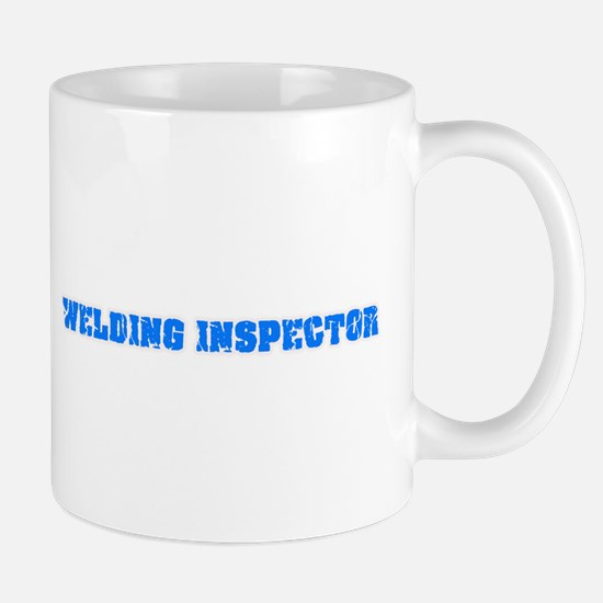 Welding Inspector Blue Bold Design Mugs