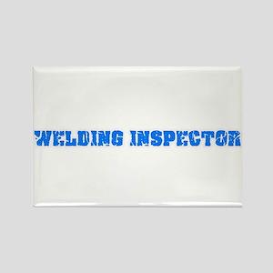 Welding Inspector Blue Bold Design Magnets
