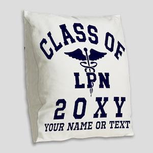 Class of 20?? Nursing (LPN) Burlap Throw Pillow