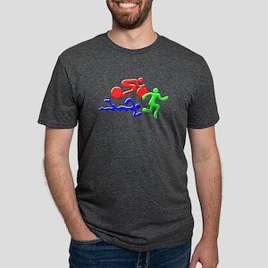 Triathlon Color Figures 3D T-Shirt