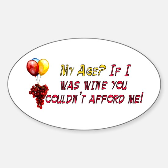 Fine Wine Oval Decal